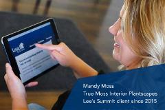 Mandy Moss of True Moss Interior Plantscapes, a Lee