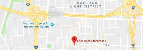 A map of the area surrounding the Lead Bank crossroads location