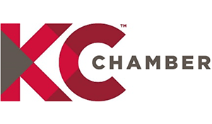 The KC Chamber logo, naming Lead Bank a Top 10 Small Business of the Year Mr. K Award