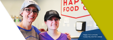 Happy Food Company Kansas City community Lead Bank clients